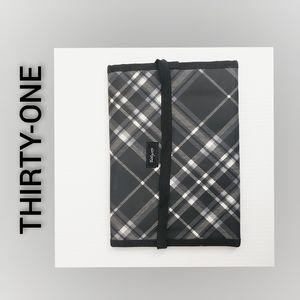 Thirty One Makeup Bag Black White NWOT